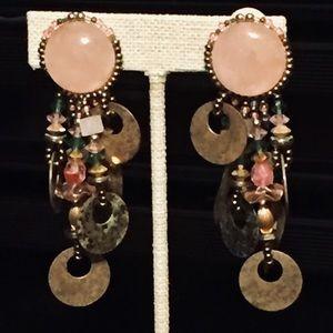 Beautiful vintage padded clip earrings